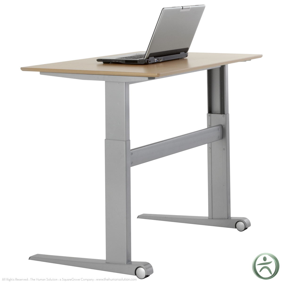 Shop conset 501 17 laminate electric sit stand desk for Motorized sit stand desk