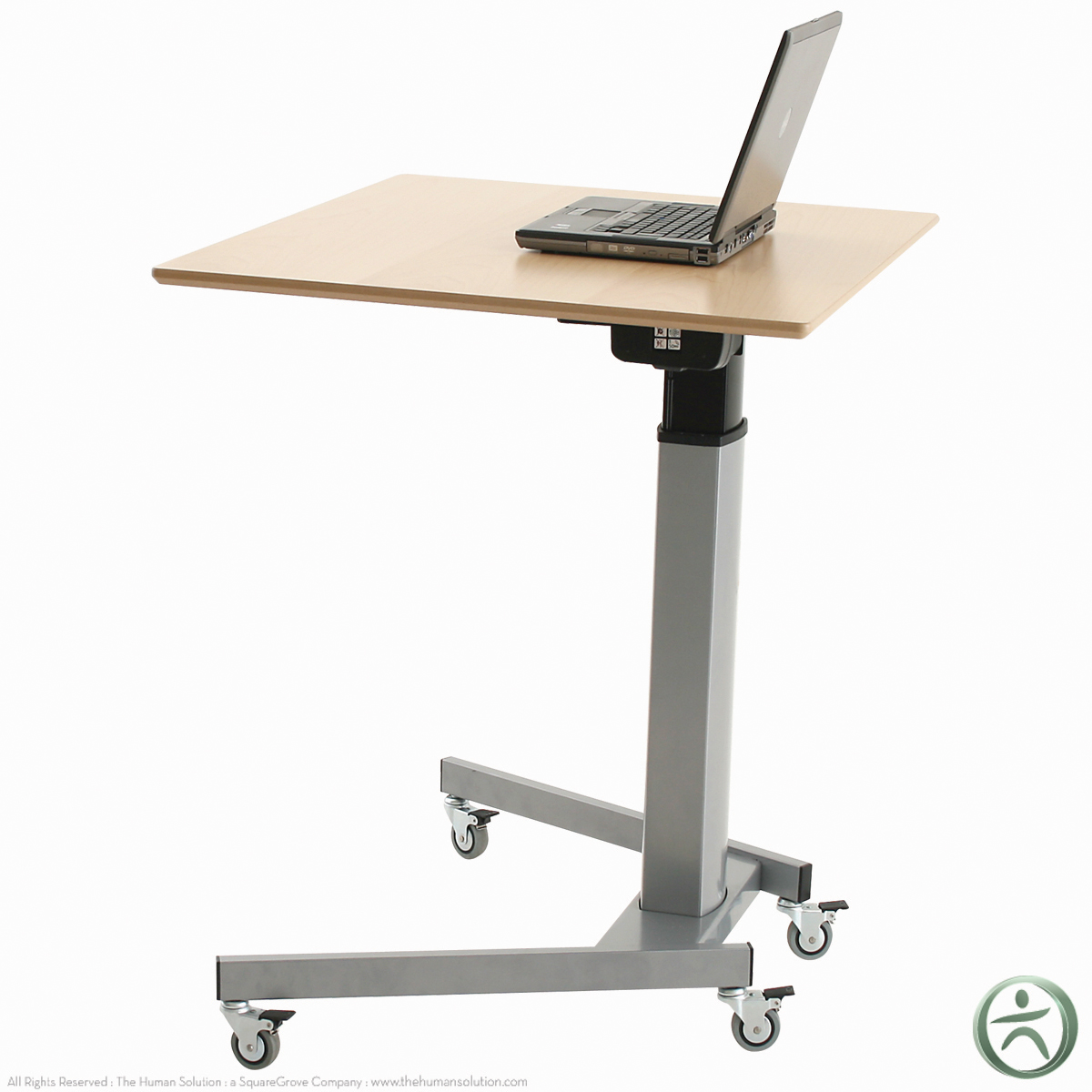 Shop conset 501 19 8x095 laminate electric sit stand desk for Motorized sit stand desk