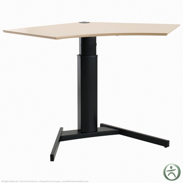 Shop conset 501 19 8x095 laminate electric sit stand desk for Motorized standing desk legs