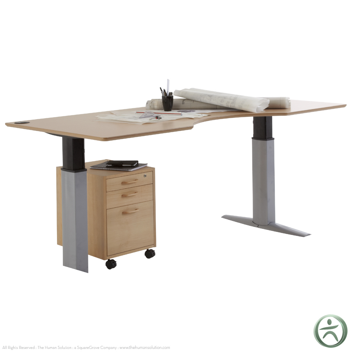 Conset 501 23 Laminate Electric 26 46 5 Sit Stand Desk