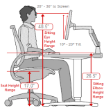 ergonomic office desk chair and keyboard height calculator. Black Bedroom Furniture Sets. Home Design Ideas