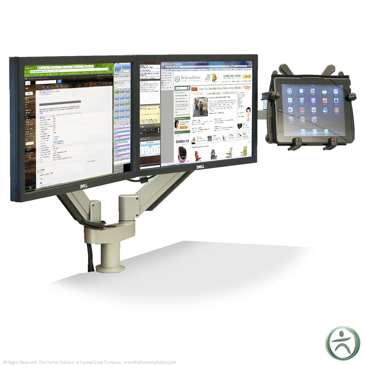 shop innovative 7050 switch dual monitor and tablet arm. Black Bedroom Furniture Sets. Home Design Ideas