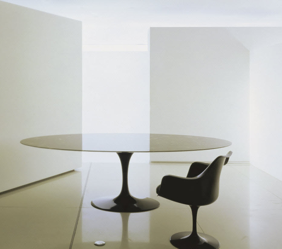 Knoll saarinen large oval dining table at the human solution - Saarinen oval dining table dimensions ...