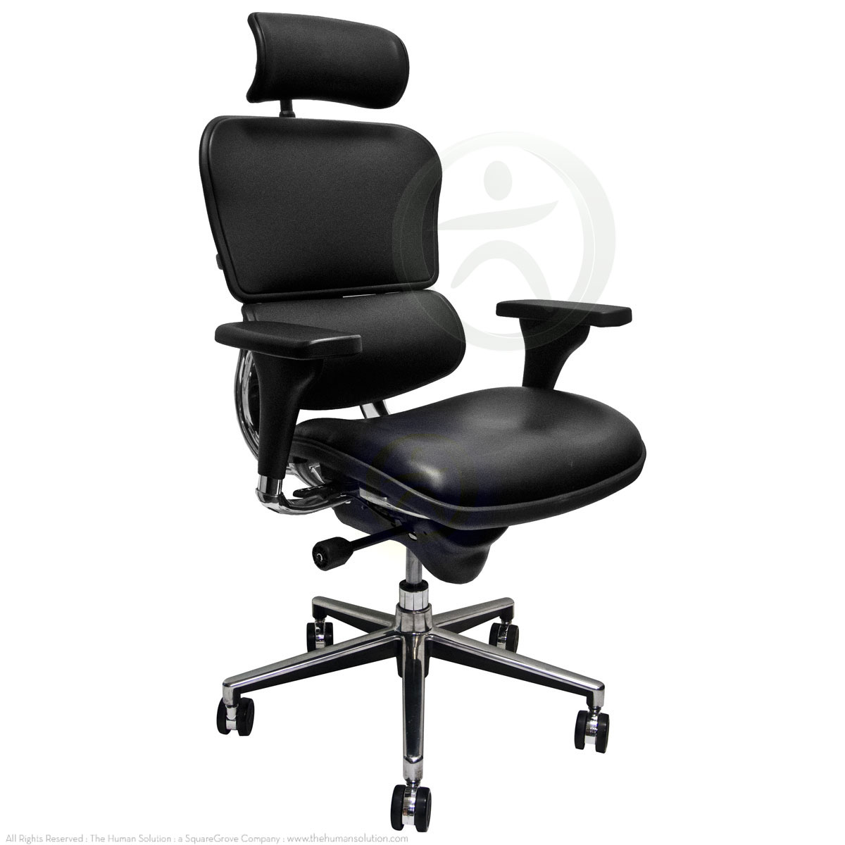 shop raynor ergohuman chairs leather with headrest le9erg. Black Bedroom Furniture Sets. Home Design Ideas
