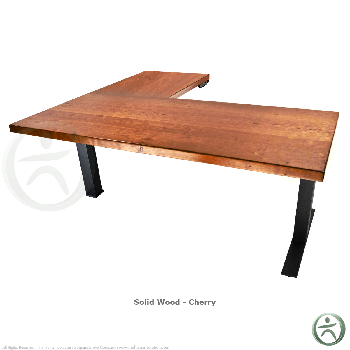 Uplift 800 solid wood electric 23 49 39 39 sit stand 3 leg desk for Motorized standing desk legs