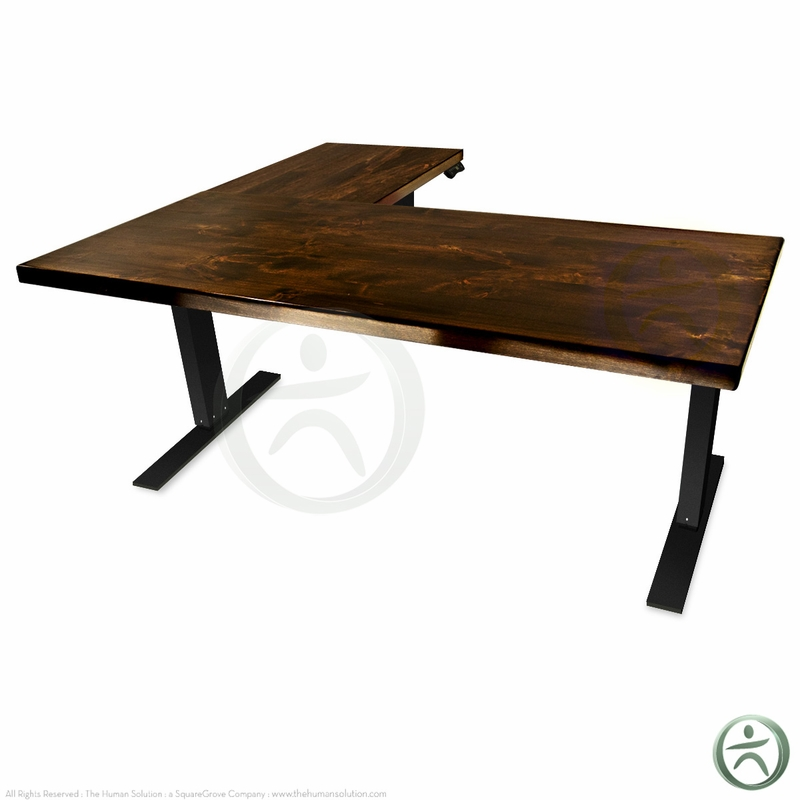 Shop uplift 950 height adjustable solid wood standing desks - Unfinished wood desks ...