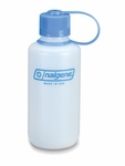 Nalgene 16 oz HDPE Round Loop-Top Bottle - White Narrow Mouth BPA FREE