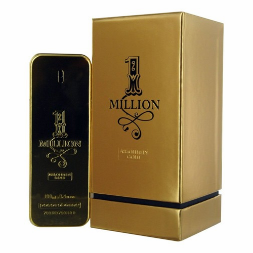 1 Million Absolutely Gold by Paco Rabanne, 3.4 oz Pure Parfume Spray for Men