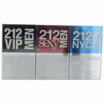 212 by Carolina Herrera, 3 Piece Pill Gift Set for Men