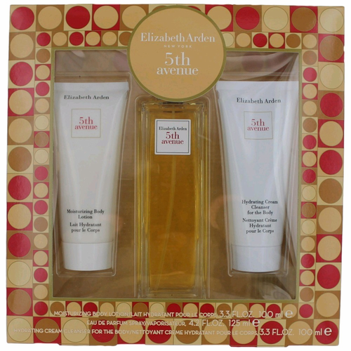 5th Avenue by Elizabeth Arden, 3 Piece Gift Set for Women with Cleanser