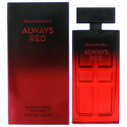 Always Red by Elizabeth Arden, 3.4 oz Eau De Toilette Spray for Women