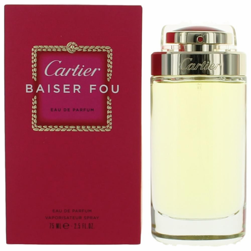 Baiser Fou by Cartier, 2.5 oz Eau De Parfum Spray for Women