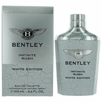 Bentley Infinite Rush White Edition by Bentley, 3.4 oz Eau De Toilette Spray for Men