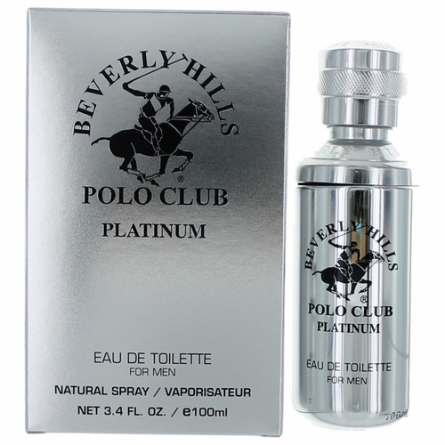 Beverly Hills Polo Club Platinum by Beverly Hills Polo Club, 3.4 oz Eau De Toilette Spray for Men