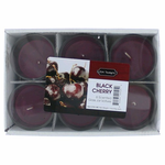 Black Cherry 1.5 oz Glass Jar Votives Candle, 6 Pack 9 oz Total - Black Cherry