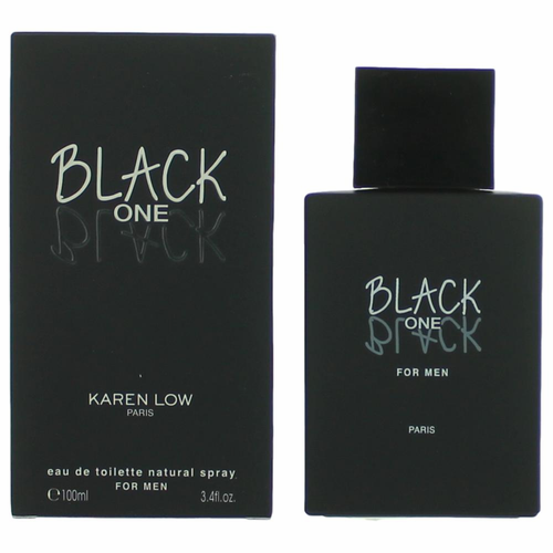 Black One Black by Karen Low, 3.4 oz Eau De Toilette Spray for Men