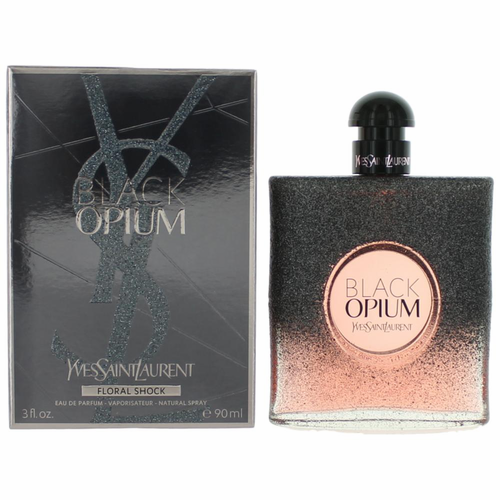 Black Opium Floral Shock by Yves Saint Laurent, 3 oz Eau De Parfum Spray for Women