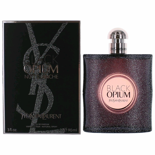 Black Opium Nuit Blanche by Yves Saint Laurent, 3 oz Eau De Parfum Spray for Women