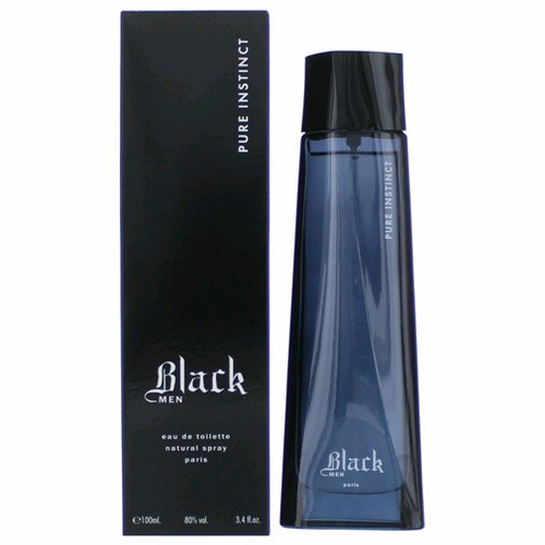 Black Pure Instinct by Karen Low, 3.4 oz Eau De Toilette Spray for Men