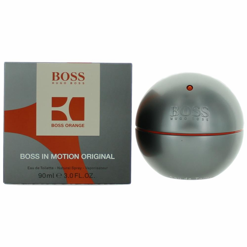 Boss in Motion (Orange) by Hugo Boss, 3 oz Eau De Toilette Spray for Men