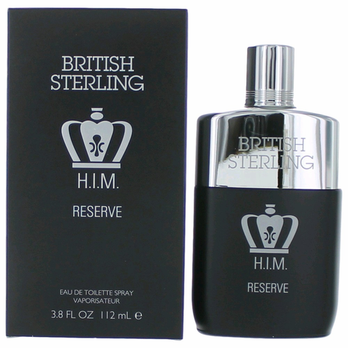 British Sterling H.I.M. Reserve by Dana, 3.8 oz Eau De Toilette Spray for Men