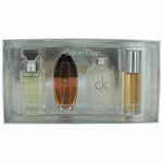 Calvin Klein by Calvin Klein, 4 Piece Mini Variety Set for Women Silver