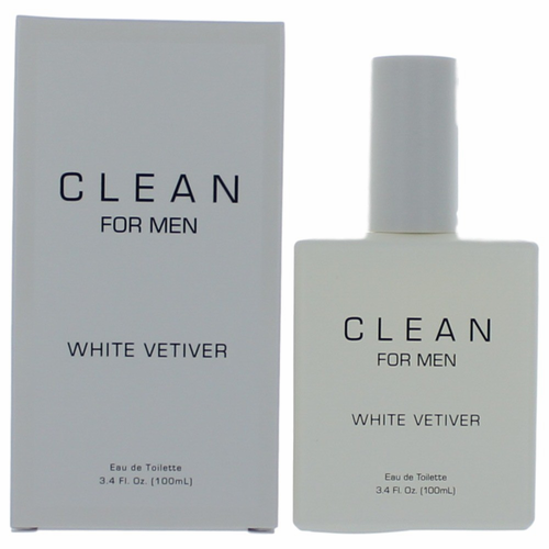 Clean White Vetiver by Dlish, 3.4 oz Eau De Toilette Spray for Men