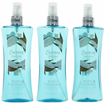 Coconut Fantasy by Body Fantasies, 3 Pack of 8 oz Fragrance Body Spray for Women