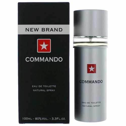 Commando by New Brand, 3.3 oz Eau De Toilette Spray for Men