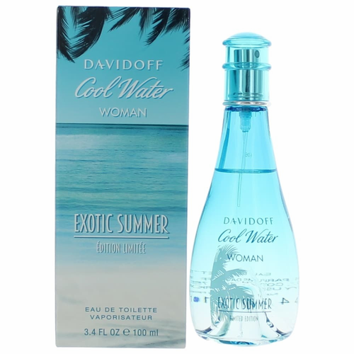 Cool Water Exotic Summer by Davidoff, 3.4 oz Eau De Toilette Spray for Women.