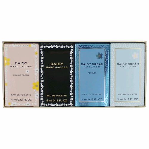 Authentic Daisy Perfume By Marc Jacobs, 4 Piece Variety Mini Gift ...