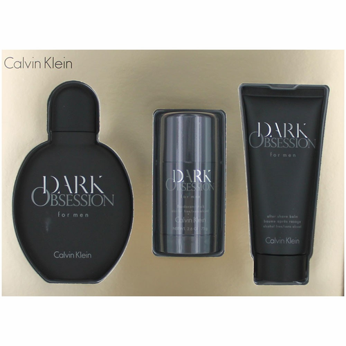 Dark Obsession by Calvin Klein, 3 Piece Gift Set for Men