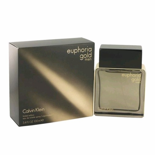 Euphoria Gold by Calvin Klein, 3.4 oz Eau De Toilette Spray for Men
