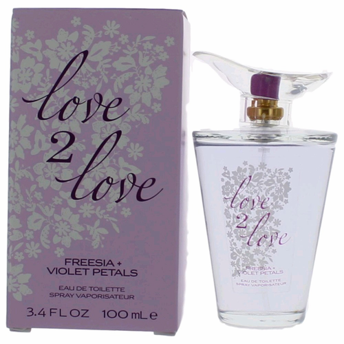 Freesia & Violet Petals by Love2Love, 3.4 oz Eau De Toilette Spray for Women