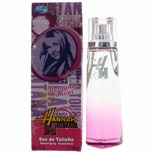 Hannah Montana Keeping It Real by Disney, 3.4 oz Eau De Toilette Spray for Girls