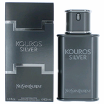 Kouros Silver by Yves Saint Laurent, 3.3 oz Eau De Toilette Spray for Men