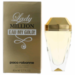 Lady Million Eau My Gold! by Paco Rabanne, 2.7 oz Eau De Toilette Spray for Women