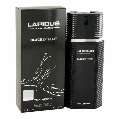 Lapidus Black Extreme by Ted Lapidus, 3.4 oz Eau De Toilette Spray for Men