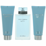 Light Blue Eau Intense by Dolce & Gabbana, 3 Piece Gift Set for Women