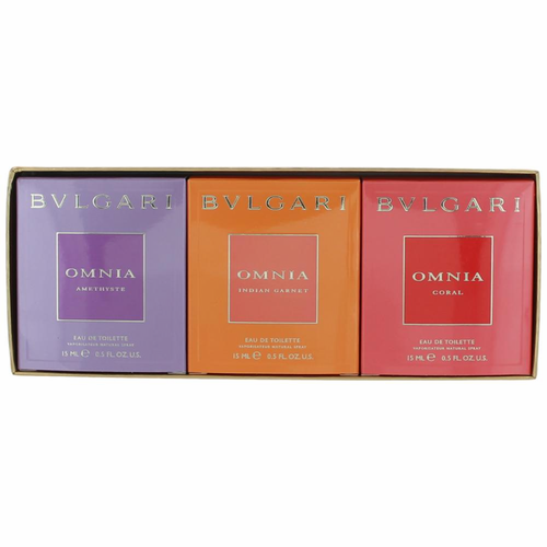 Omnia Jewel Charms Collection by Bvlgari, 3 Piece Variety Gift Set for Women