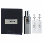 Prada Amber by Prada, 3 x .34 oz Eau De Toilette Refill Sprays & Case for Men