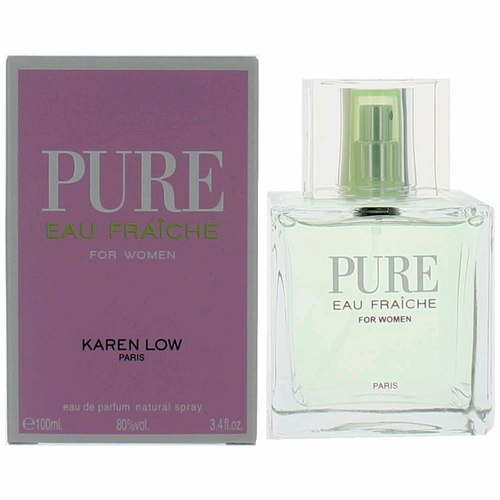 Pure Eau Fraiche by Karen Low, 3.4 oz Eau De Parfum Spray for Women