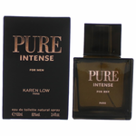 Pure Intense by Karen Low, 3.4 oz Eau De Toilette Spray for Men
