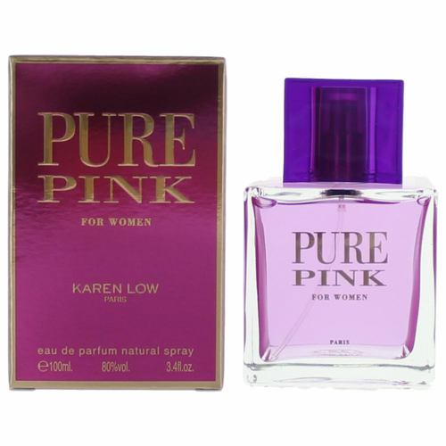 Pure Pink by Karen Low, 3.4 oz Eau De Parfum Spray for Women