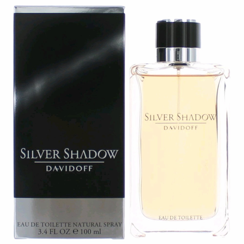 Silver Shadow by Davidoff, 3.4 oz Eau De Toilette Spray for Men