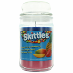 Skittles Scented Candle 16 oz Triple Pour Jar - Pineaaple/Mango/Strawberry