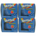 Skittles Scented Candle 4 Pack of 3 oz Jars - Raspberry