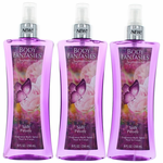 Soft Peony by Body Fantasies, 3 Pack 8 oz Fragrance Body Spray for Women