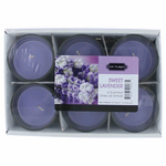 Sweet Lavender 1.5 oz Glass Jar Votives Candle, 6 Pack 9 oz Total - Sweet Lavender