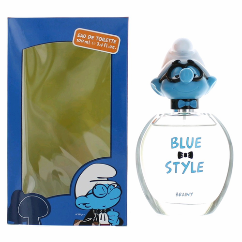 The Smurfs Blue Style Brainy by Marmol & Son, 3.4 oz Eau De Toilette Spray for Kids